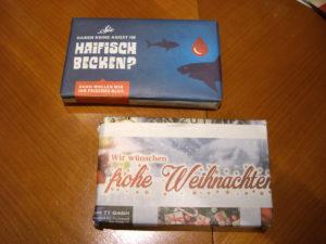 Geschenkverpackung aus Werbebeilagen