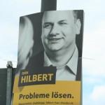 Wahlplakat Dirk Hilbert
