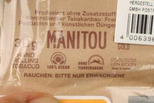Tabak ohne Tierversuche - Manitou